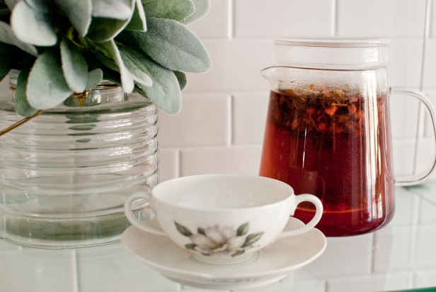 Baking Tea with Cup; Plant